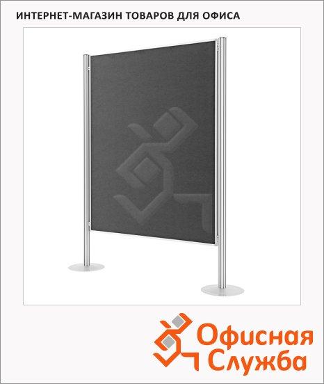 Стенд презентационный Magnetoplan текстильный 2 шт, 1200х1500мм, серый