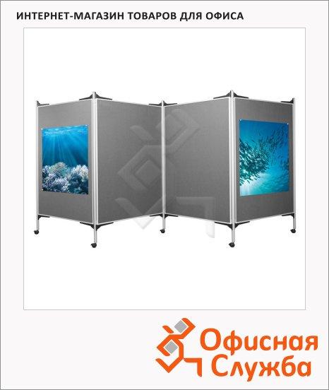 Стенд презентационный Magnetoplan 1101007, текстильный, 4штх150х100см, мобильный