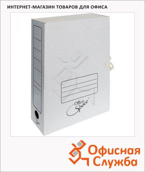 фото: Архивная папка на завязках Office Space белая А4, 75 мм, A-GAT75_368