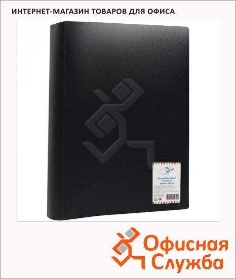 Папка пластиковая с зажимом Office Space черная, А4, 15мм, FC1_310