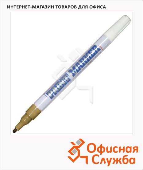 Маркер-краска Munhwa Slim Size золото, 2 мм, пулевидный наконечник, нитро-основа