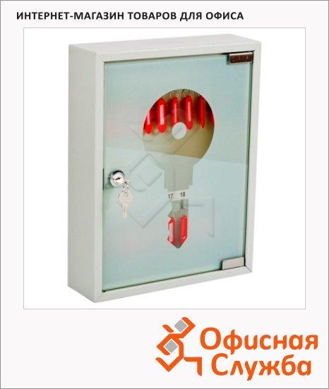 Шкафчик для ключей Office Force на 108 ключей, серый, 270х350х80мм