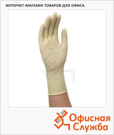Перчатки лабораторные Kimberly-Clark Kimtech Science PFE E220, латексные, бежевые, 50 пар, S