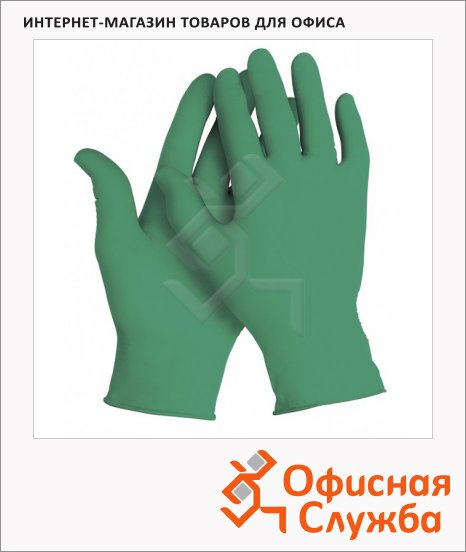Перчатки лабораторные Kimberly-Clark Kimtech Science Nitrile 99851, нитриловые, зеленые, S