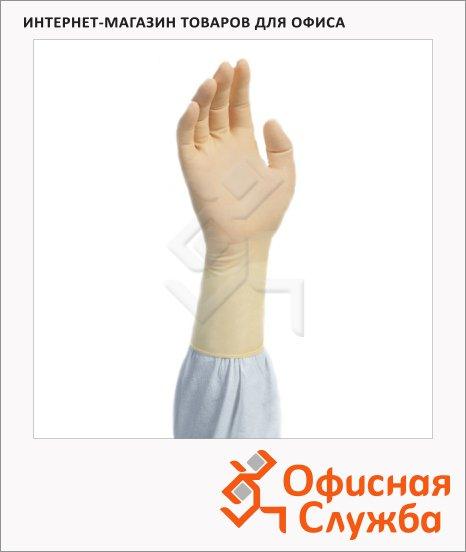 фото: Перчатки латексные Kimberly-Clark Kimtech Pure G3 HC225 S, бежевые, 1 шт