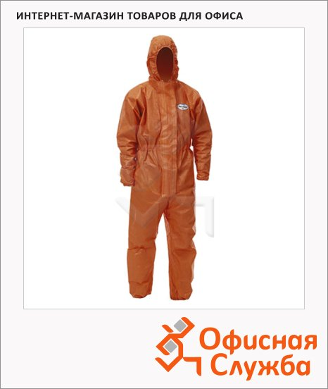 фото: Комбинезон Kimberly-Clark Kleenguard A80 9654 оранжевый, 10шт, XXL
