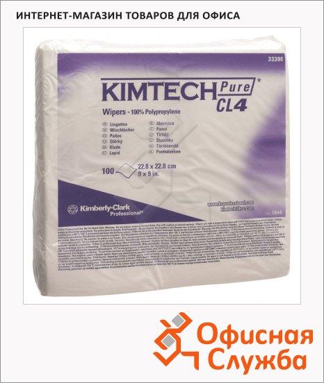 Протирочные салфетки Kimberly-Clark Kimtech Pure CL4 7646, 100шт, белые, листовые