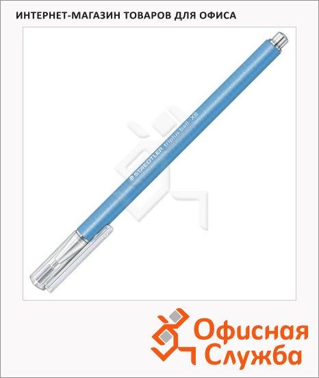 Ручка шариковая автоматическая Staedtler Triplus Ball 431 голубая, 0.7мм