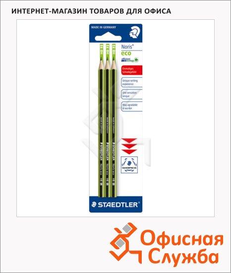 Набор чернографитных карандашей Staedtler Noris Eco HB, 3 шт, 18030HBBK3