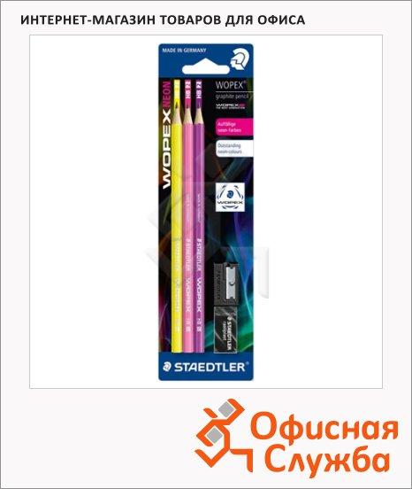 ����� �������������� ���������� Staedtler Wopex Neon ��, �������, 3��, 180FSBK3-1