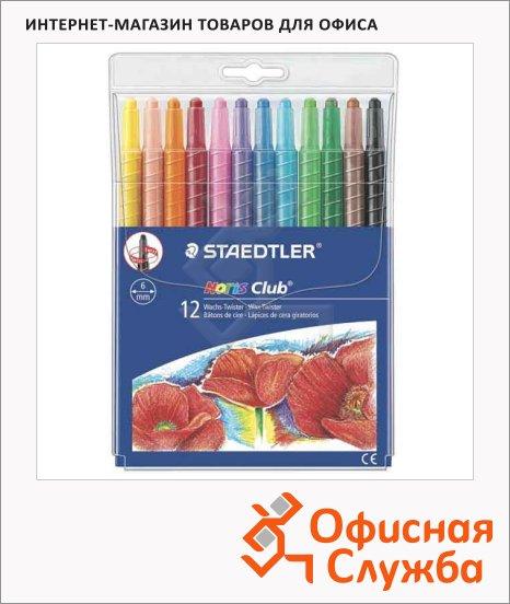 Набор восковых карандашей Staedtler Noris Club 221 12 цветов, круглые
