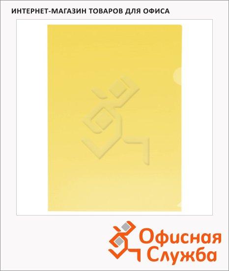 Папка-уголок Бюрократ желтая прозрачная, A4, 180мкм, E310/1YEL