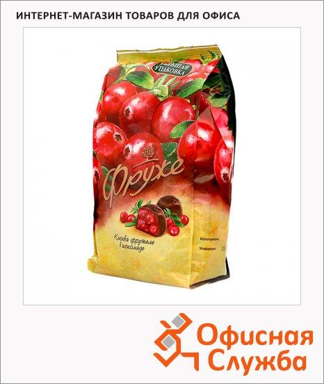 Конфеты Фруже Клюква в темном шоколаде, 380г