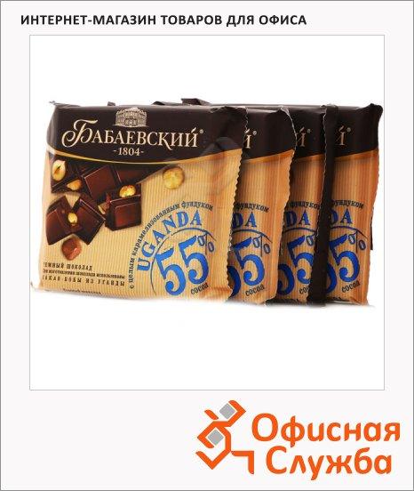Шоколад Бабаевский Уганда темный, 4штх90г, с фундуком