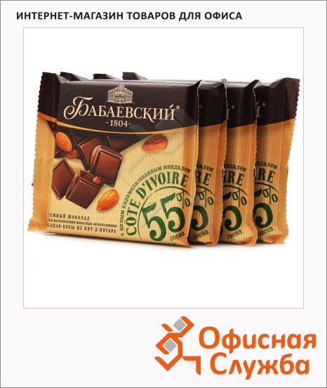 Шоколад Бабаевский Уганда темный, 4штх90г, с миндалем