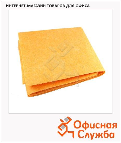 Тряпка для мытья пола Vclean Сахара 50х60см, вискоза, желтая