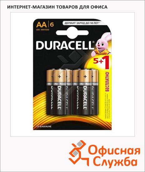фото: Батарейка Duracell Basic AA/LR6 1.5В, алкалиновые, 6шт/уп