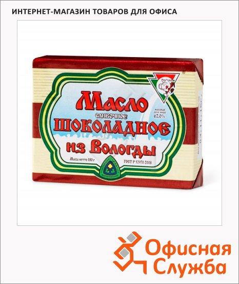 фото: Масло сливочное Из Вологды шоколадное 62% 180г