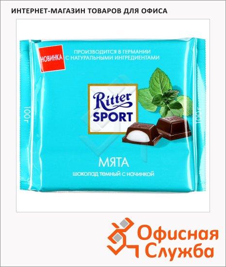 Шоколад Ritter Sport с мятой, темный