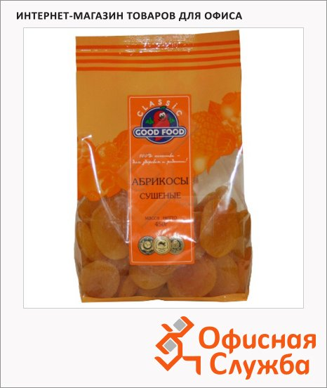 фото: Абрикос Good Food Classik сушеный 450г