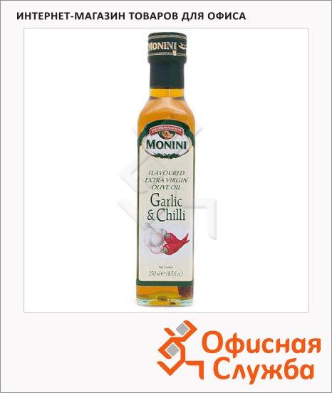 фото: Масло оливковое Monini Extra Virgin нерафинированное с чесноком и перцем, 250мл