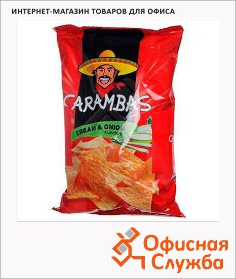 Чипсы Carambas кукурузные сметана/ лук, 150г