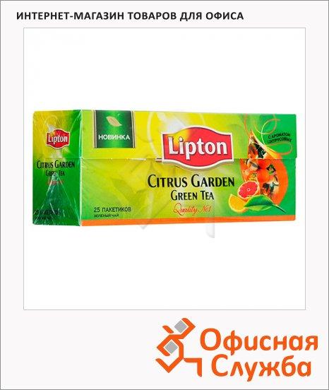 Чай Lipton Citrus, зеленый, 25 пакетиков