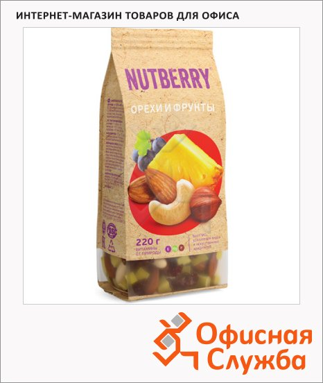 фото: Смесь орехов и сухофруктов Nutberry орехи и фрукты 220г