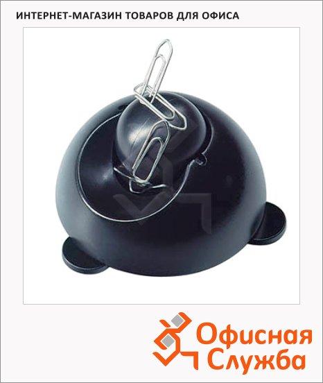 фото: Скрепочница магнитная Helit черная с шаром