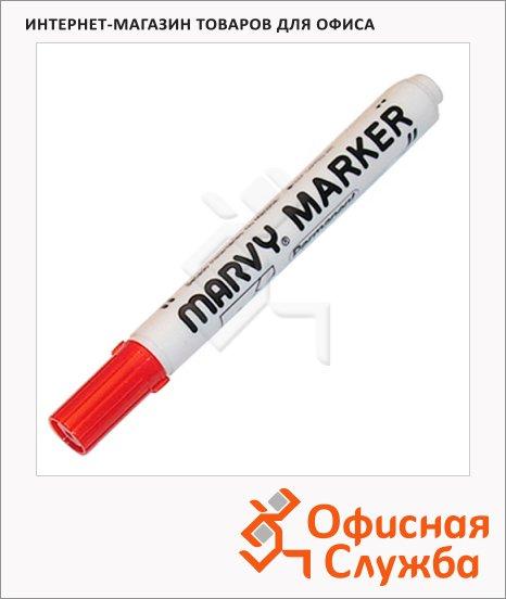 фото: Маркер перманентный Marvy 482С красный 1-3мм, скошенный наконечник