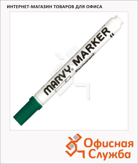 фото: Маркер перманентный Marvy 482С зеленый 1-3мм, скошенный наконечник