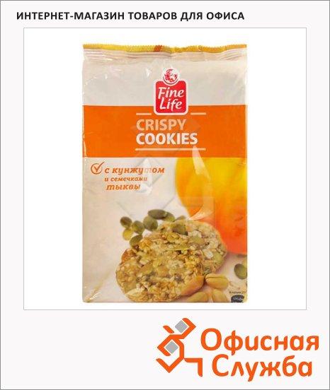 фото: Печенье Fine Life хрустящее с кунжутом и семечками тыквы