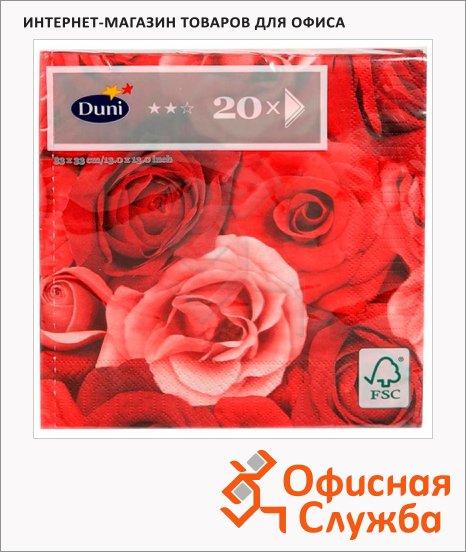 фото: Салфетки сервировочные Duni Romance бордо 33х33см, 3 слоя, 20шт