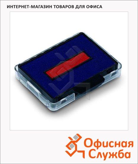 Сменная подушка прямоугольная Trodat для Trodat 5430/5431/5435, синяя-красная, 6/50/2