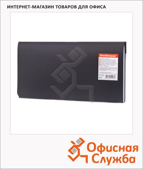 Папка-конверт на кнопке Erich Krause Standard Check черная, 220х140мм, 14484