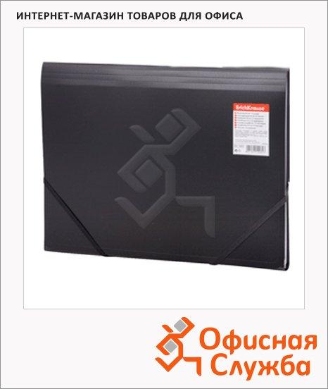 Пластиковая папка на резинке Erich Krause Standard черная, A4, 13 отделений, 14482