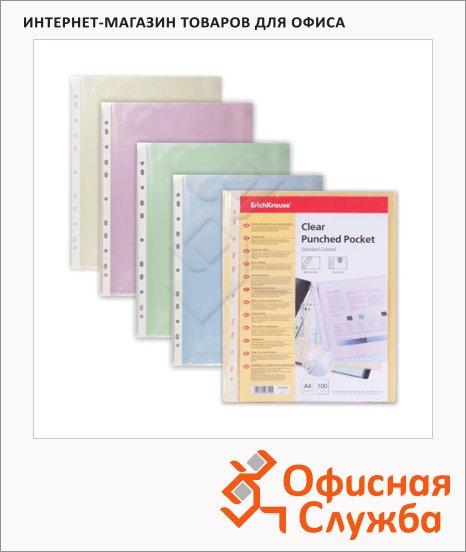 Файл-вкладыш А4 Erich Krause ассорти, 30 мкм, 100 шт/уп, 6792