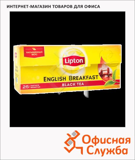 фото: Чай Lipton English Breakfast черный, 25 пакетиков