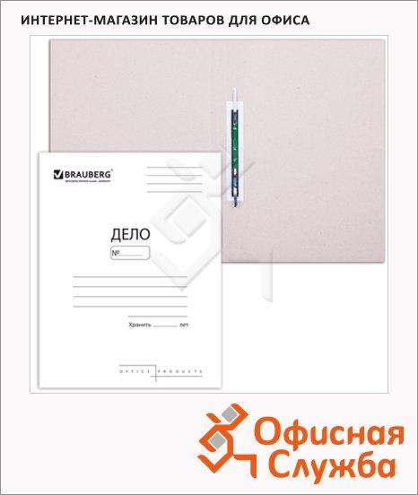 Скоросшиватель картонный Бюрократ Дело белый, А4, 320г/м2, SK320/816456