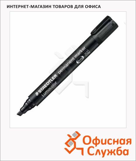 Маркер перманентный Staedtler Lumocolor 350-902 чёрный, 2-5мм, скошенный наконечник