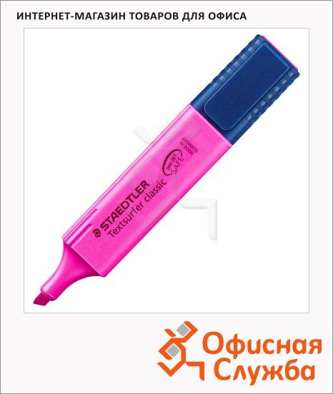 Текстовыделитель Staedtler Textsurfer Classic Classic, 1-5мм, скошенный наконечник, 1-5мм, скошенный наконечник, розовый