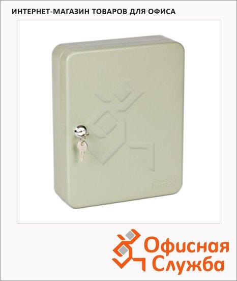 Шкафчик для ключей Office Force на 108 ключей, серый, 300х240х80мм
