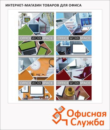 фото: Тетрадь общая Office A5, 48 листов, в клетку, на скрепке, мелованный картон