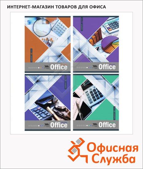 фото: Тетрадь общая Office Life A5, 48 листов, в клетку, на скрепке, мелованный кратон
