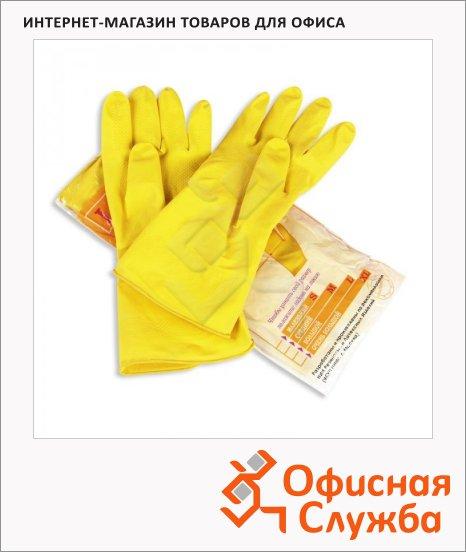 Перчатки латексные Paclan Professional р.S, желтые