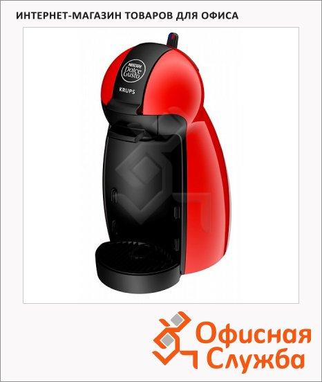 фото: Кофемашина капсульная Dolce Gusto Piccolo KP100610 0.6 л, 1500 Вт, красная