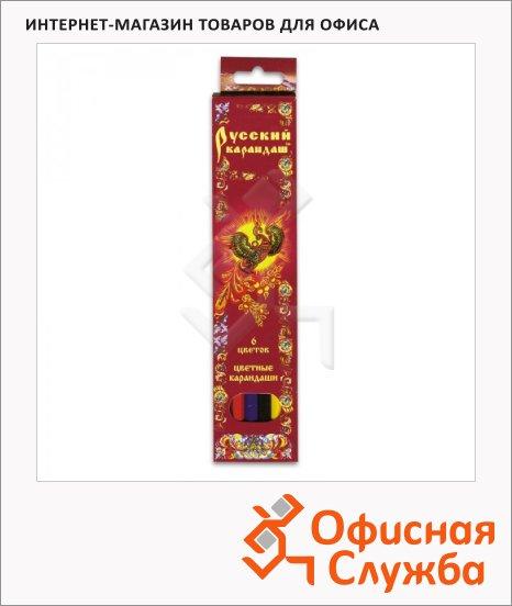 Набор цветных карандашей Русский Карандаш 6 цветов, СК037/06