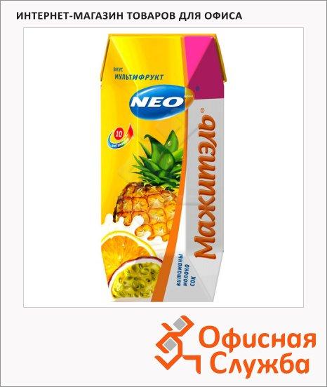 фото: Молочносоковый напиток Мажитэль мультифрукт 250г