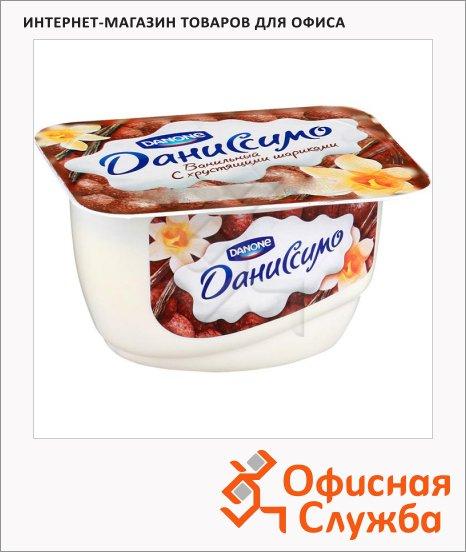 Продукт творожный Даниссимо ваниль и хрустящие шарики, 7.3%, 130г