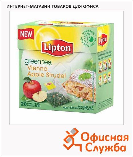 фото: Чай Lipton Vienna Apple Strudel зеленый, в пирамидках, 20 пакетиков